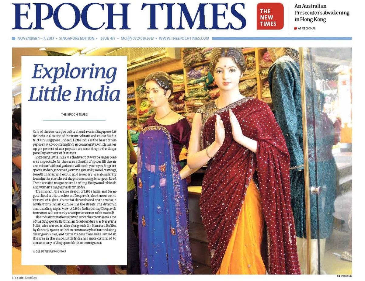 Epoch Times: Exploring Little India, SIngapore